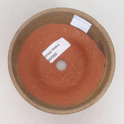 Ceramiczna miska bonsai 12 x 12 x 6,5 cm, kolor brązowy - 3
