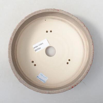 Ceramiczna miska bonsai 13 x 13 x 6 cm, kolor czerwony - 3