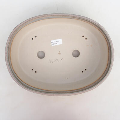 Miska Bonsai 34 x 26 x 9,5 cm, kolor szaro-beżowy - 3