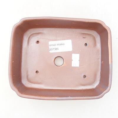 Ceramiczna miska bonsai 15 x 12 x 4,5 cm, kolor brązowy - 3