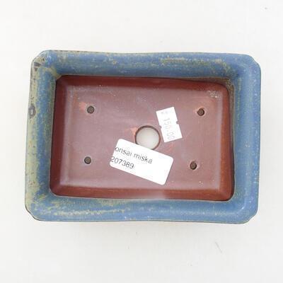 Ceramiczna miska bonsai 13,5 x 9,5 x 4 cm, kolor niebieski - 3