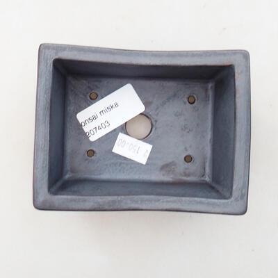 Ceramiczna miska bonsai 11 x 8,5 x 4,5 cm, kolor metalowy - 3