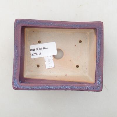 Ceramiczna miska bonsai 11 x 8,5 x 4,5 cm, kolor fioletowy - 3