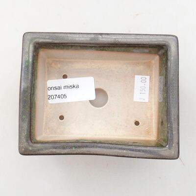 Ceramiczna miska bonsai 11 x 8,5 x 4,5 cm, kolor zielony - 3