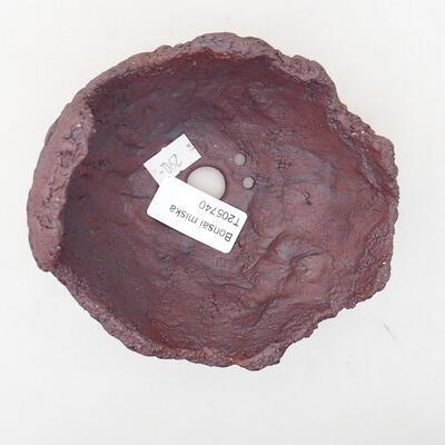 Ceramiczna skorupa 11 x 10 x 10,5 cm, kolor szary - 3