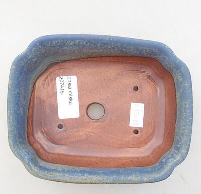 Ceramiczna miska bonsai 15 x 12 x 4,5 cm, kolor niebieski - 3