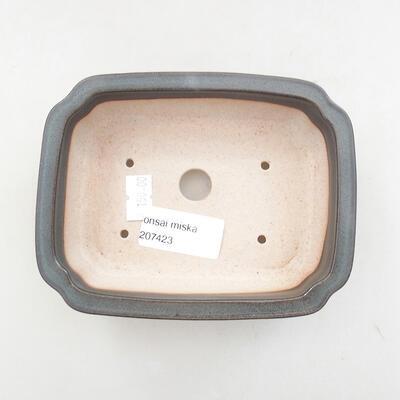 Ceramiczna miska bonsai 13 x 10,5 x 4 cm, kolor szary - 3
