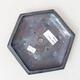 Ceramiczna miska bonsai 16 x 14,5 x 3,5 cm, kolor metalowy - 3/3