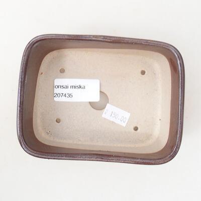 Ceramiczna miska bonsai 12 x 9 x 5 cm, kolor brązowy - 3