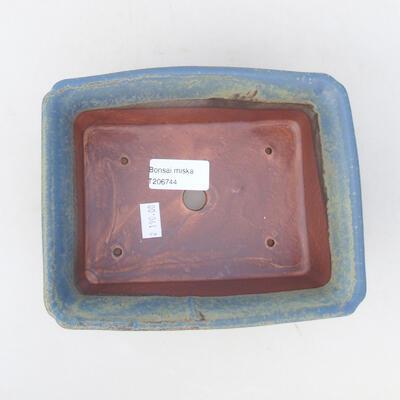 Ceramiczna miska bonsai 18 x 14 x 7 cm, kolor niebieski - 3