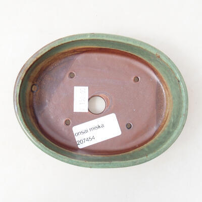 Ceramiczna miska bonsai 13 x 10,5 x 3,5 cm, kolor zielony - 3