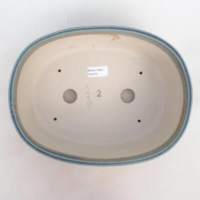 Miska Bonsai 30 x 23 x 10 cm, kolor niebiesko-zielony - 3