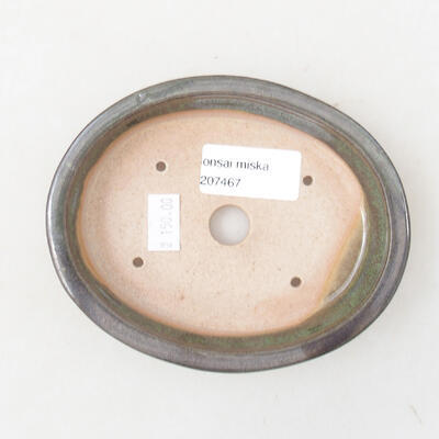Ceramiczna miska bonsai 12,5 x 10 x 2,5 cm, kolor zielony - 3