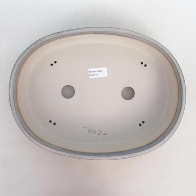 Miska Bonsai 33 x 25 x 7,5 cm, kolor szaro-beżowy - 3