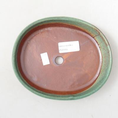 Ceramiczna miska bonsai 17 x 14 x 3,5 cm, kolor zielony - 3