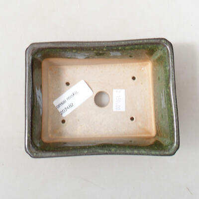 Ceramiczna miska bonsai 13 x 10 x 5 cm, kolor zielony - 3