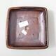 Ceramiczna miska bonsai 15 x 15 x 5,5 cm, kolor brązowo-czarny - 3/3