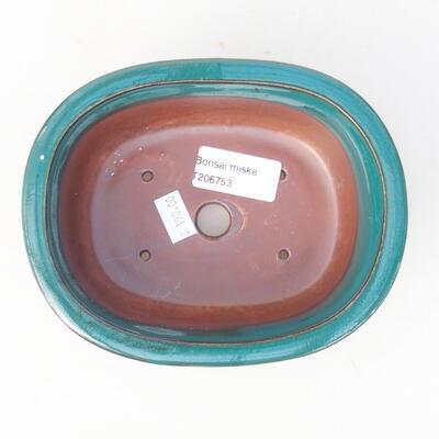 Ceramiczna miska bonsai 14 x 11 x 5,5 cm, kolor zielony - 3