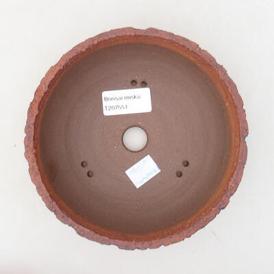 Ceramiczna miska bonsai 15,5 x 15,5 x 5,5 cm, kolor spękany - 3