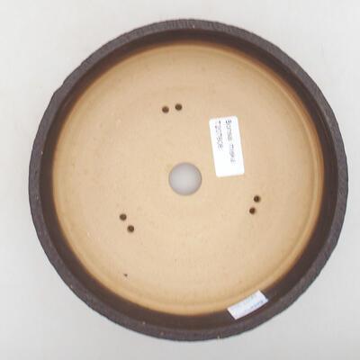 Ceramiczna miska bonsai 18,5 x 18,5 x 6 cm, kolor pęknięty - 3