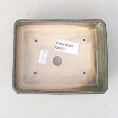 Ceramiczna miska bonsai 14 x 10,5 x 3,5 cm, kolor zielony - 3