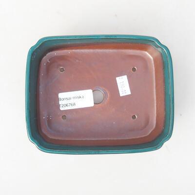 Ceramiczna miska bonsai 15 x 11,5 x 4 cm, kolor zielony - 3