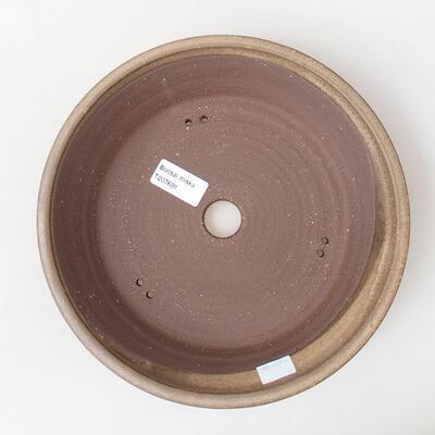 Ceramiczna miska bonsai 23,5 x 23,5 x 5 cm, kolor brązowy - 3