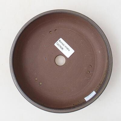 Ceramiczna miska bonsai 18 x 18 x 4 cm, kolor brązowy - 3