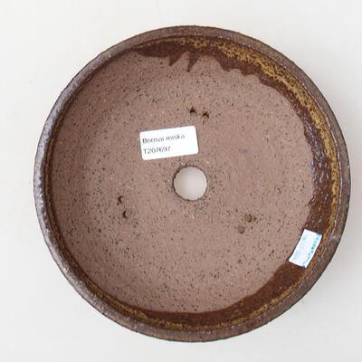 Ceramiczna miska bonsai 19 x 19 x 5 cm, kolor brązowy - 3