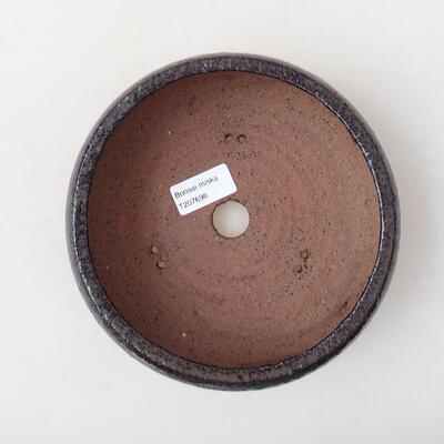 Ceramiczna miska bonsai 17 x 17 x 6,5 cm, kolor brązowy - 3