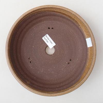 Ceramiczna miska bonsai 22,5 x 22,5 x 5,5 cm, kolor brązowy - 3