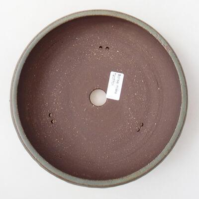 Ceramiczna miska bonsai 22 x 22 x 6 cm, kolor brązowy - 3