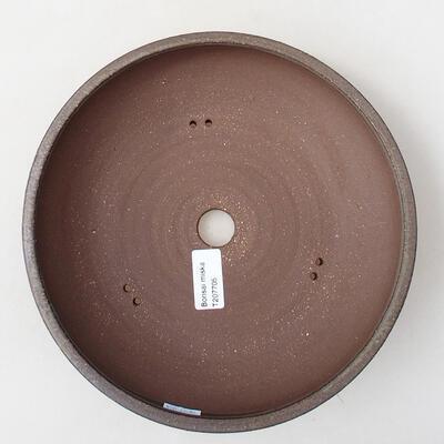 Ceramiczna miska bonsai 23,5 x 23,5 x 6 cm, kolor niebieski - 3