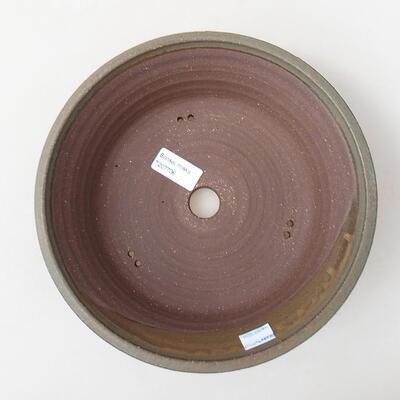 Ceramiczna miska bonsai 24 x 24 x 7,5 cm, kolor niebieski - 3