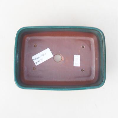 Ceramiczna miska bonsai 15,5 x 10 x 4 cm, kolor zielony - 3