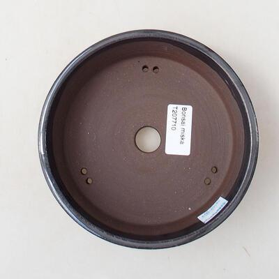 Ceramiczna miska bonsai 15 x 15 x 4,5 cm, kolor metalowy - 3