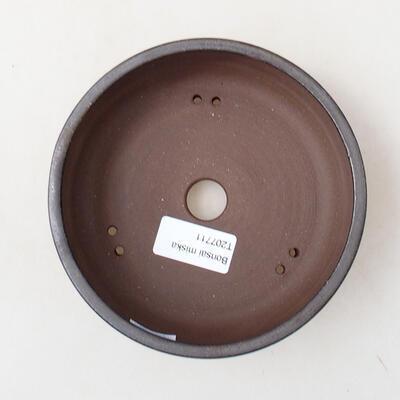 Ceramiczna miska bonsai 14 x 14 x 4,5 cm, kolor metalowy - 3