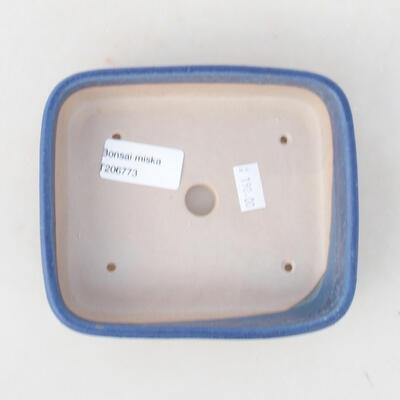 Ceramiczna miska bonsai 14 x 12 x 4 cm, kolor niebieski - 3