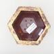 Ceramiczna miska bonsai 12 x 10,5 x 7,5 cm, kolor żółto-brązowy - 3/3