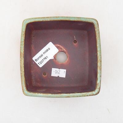 Ceramiczna miska bonsai 10 x 10 x 7 cm, kolor zielony - 3