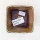 Ceramiczna miska bonsai 7 x 7 x 7 cm, kolor brązowo-zielony - 3/3