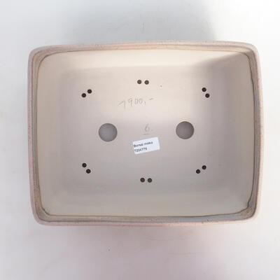Miska Bonsai 30 x 24 x 10 cm, kolor beżowo-szary - 3