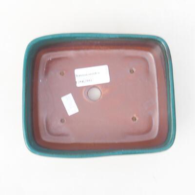 Ceramiczna miska bonsai 15 x 12 x 4,5 cm, kolor zielony - 3