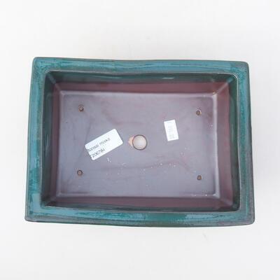 Ceramiczna miska bonsai 20 x 14,5 x 7 cm, kolor zielony - 3