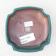 Ceramiczna miska bonsai 12,5 x 10,5 x 3,5 cm, kolor zielony - 3/3