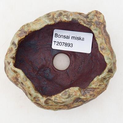 Ceramiczna skorupa 7 x 5,5 x 5,5 cm, kolor brązowo-zielony - 3