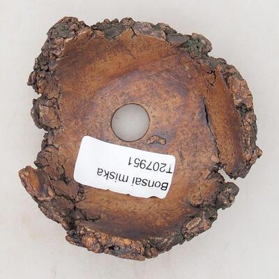 Ceramiczna muszla 7,5 x 6,5 x 5 cm, szaro-brązowa - 3