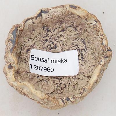 Ceramiczna muszla 5,5 x 6 x 4,5 cm, szaro-brązowa - 3
