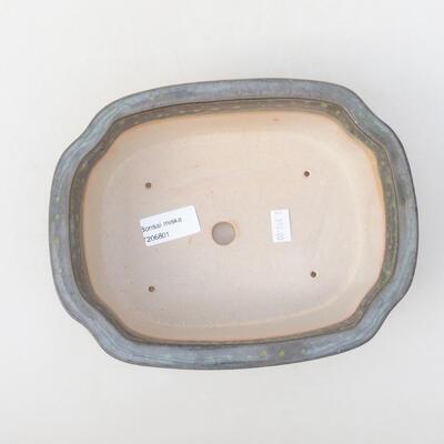Ceramiczna miska bonsai 21 x 16,5 x 7 cm, kolor zielony - 3