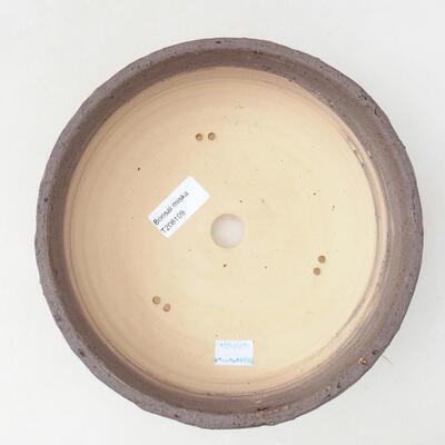 Ceramiczna miska bonsai 21,5 x 21,5 x 7 cm, kolor pęknięcia żółty - 3